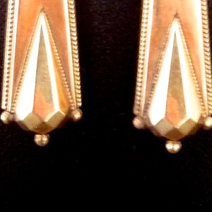 Victorian Gold Earrings, Circa 1850