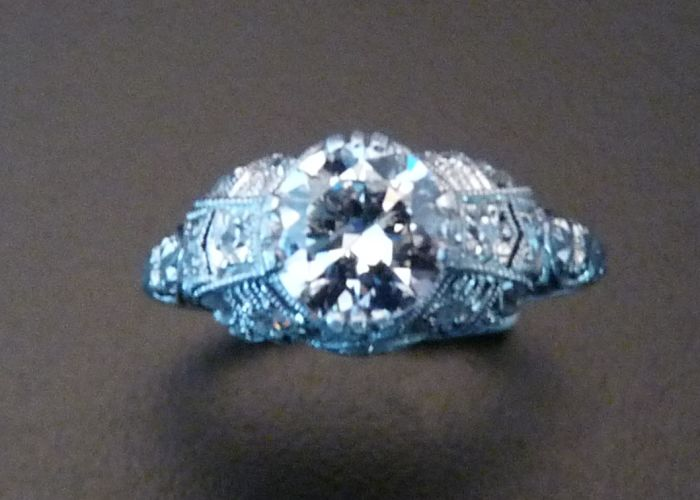 Diamond and Platinum Engagement Ring, Circa 1910